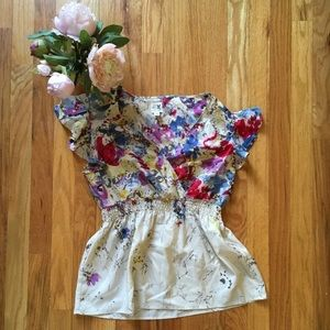 Anthropologie Edme And Esyllte Silk Top